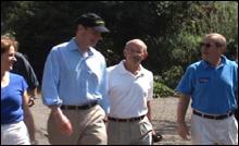 Ted, Congressmen DeFazio and Wyden, and Sen. Walker canvass in Eugene